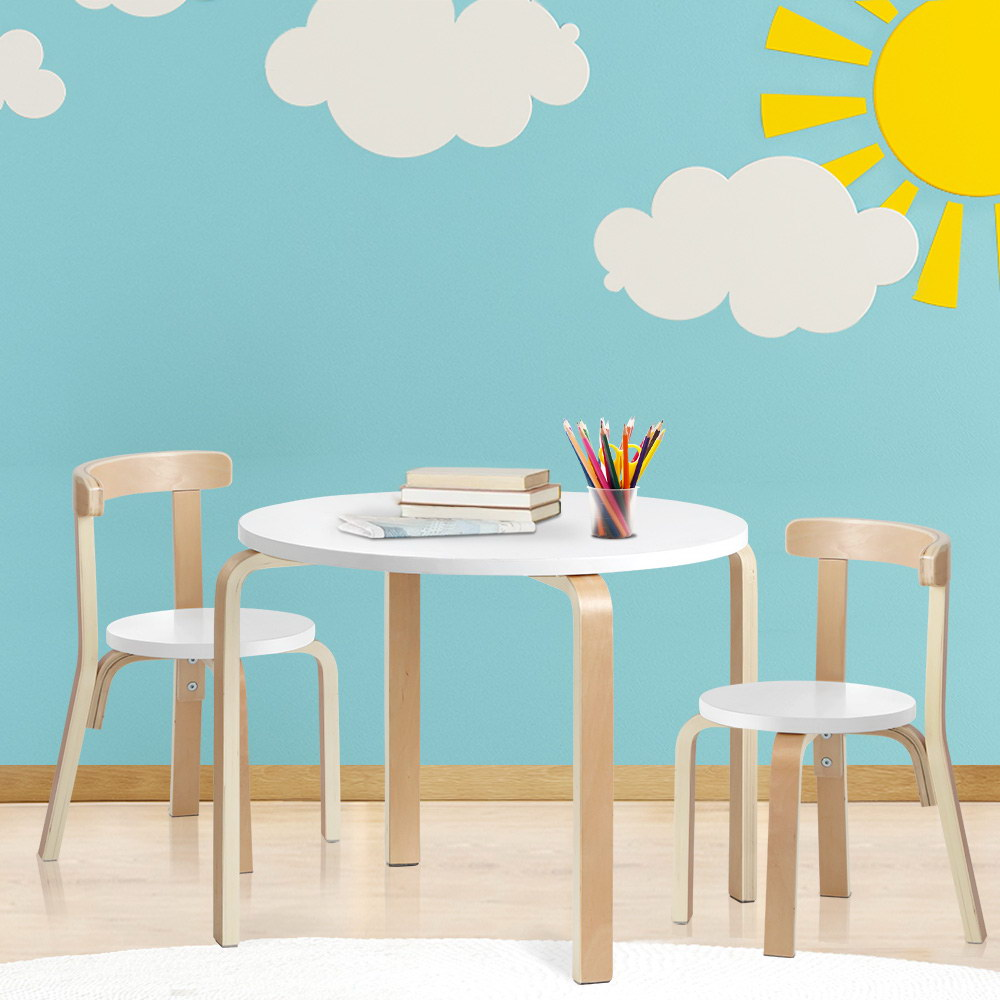 Keezi 3PCS Set Kids Activity Table and Chairs Toy Play Desk Children Furniture