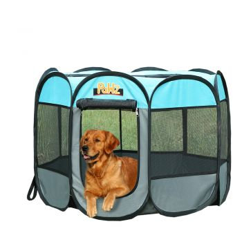 """PaWz Dog Playpen Pet Play Pens Foldable Panel Tent Cage Portable Puppy Crate 36"""""""