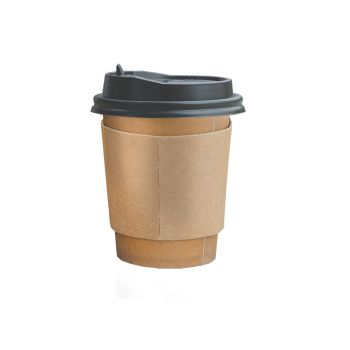 Disposable Takeaway Coffee Cups With Lids 100pcs 8oz