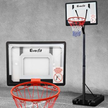 Everfit Pro Basketball Hoop Stand System Net Ring Portable Height Adjustable Kid
