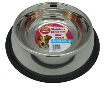 Dog Bowl Pet Stainless Steel 1990ml