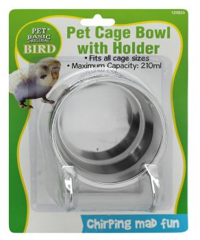 Bird Cage Bowl With Holder