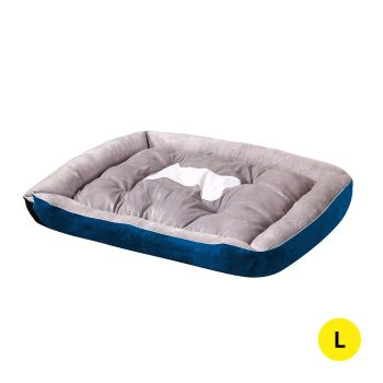 PaWz Pet Bed Bedding Cushion Soft Pad Large in Navy