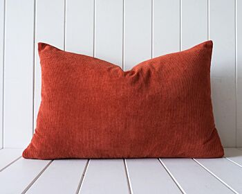Indoor Cushion - Feather Insert - Rust Corduroy - 60x40