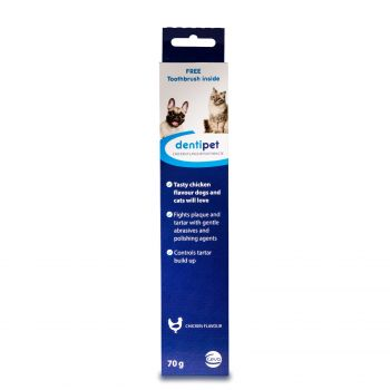 Dentipet Toothpaste & Brush Kit for your Cat or Dog - Beef or Chicken Flavour