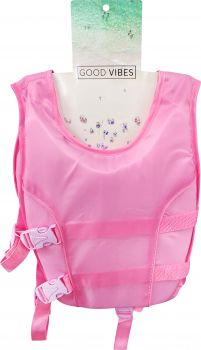 KIDS SWIM VEST ANTI RISE STRAP 3-5 YRS 39X32W PINK