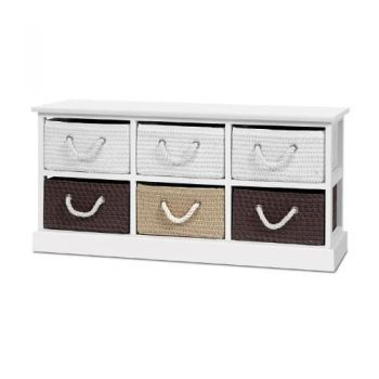Storage Bench Shoe Organiser 6 Drawers Chest Cabinet Rack Box Shelf Stool