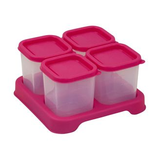 Fresh Baby Food Unbreakable Cubes (4oz/4pk)-Pink-Adult use only
