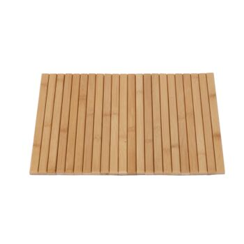 Sherwood Home Flexible Bamboo Sofa Armrest Tray with Non-Slip Base - Natural - 42x33.5x1.2cm