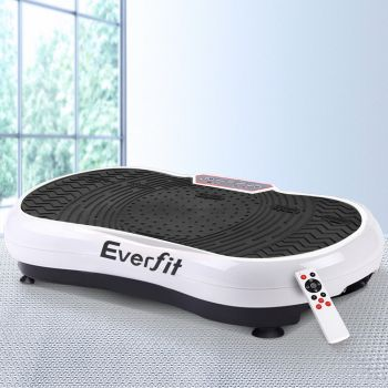 Everfit Vibration Machine Machines Platform Plate Vibrator Exercise Fit Gym Home White