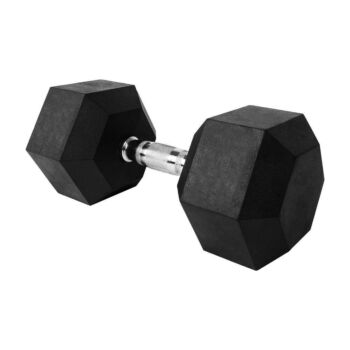 Verpeak Rubber Hex Dumbbell 22.5kg Weight Home Gym Equipment Fitness Training Workout