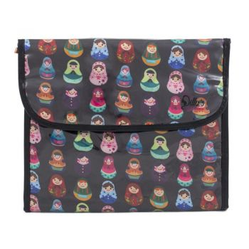 Babushka Print Multi-Purpose Flip Cosmetic Bag