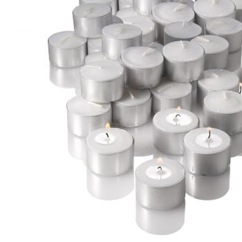 50x Tea Light Candles 9 Hour Bulk Tealights Unscented Candle Lights Wedding