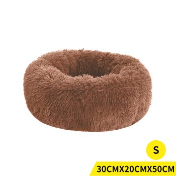 PaWz Soft Winter Cushion Pet Bed for Cats and Dogs S in Brown