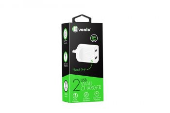2 USB AC CHARGER SMART IC(For iPhone/Samsung)