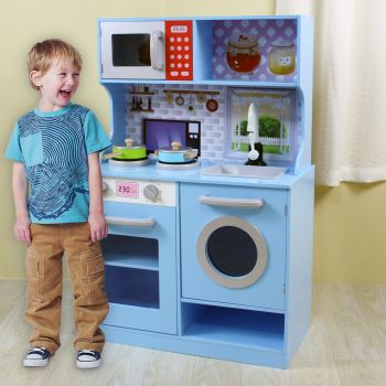 SKY BLUE WOODEN KIDS KITCHEN