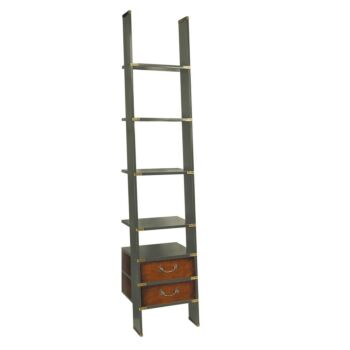 Authentic Models Bookcase Display Shelf Library Ladder - Grey