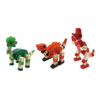 Wooden Flexible Dinosaurs 6pcs