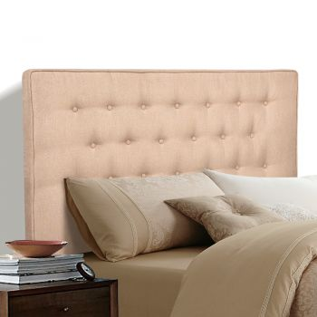 Levede Stylish Upholstered Fabric Mattress Base in King in Beige