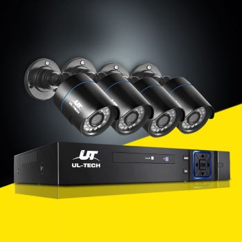 ULtech CCTV Camera Security System 4CH DVR 1080P Outdoor IP Day Night 2MP HD