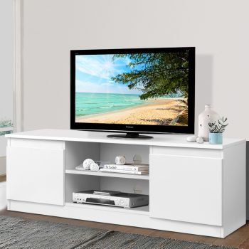 TV Cabinet Entertainment Unit Stand Side Storage Cupboard Lowline LCD LED