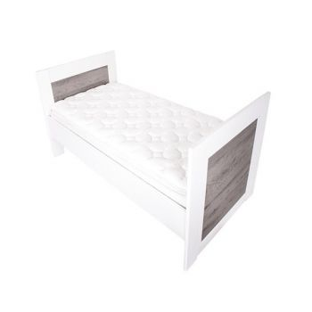 Lucca Single Bed Kit - White & Ash
