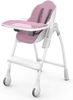 Oribel Cocoon High Chair Dining For Infant Toddler in Rose Meringue Colour