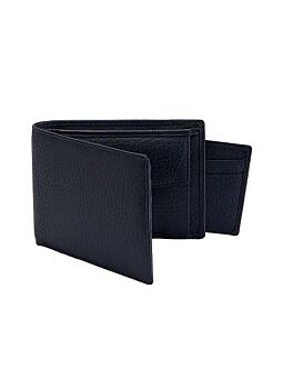 Pebble Grain Leather Billfold Wallet and Removable Credit Card Holder with RFID Blocking Protection
