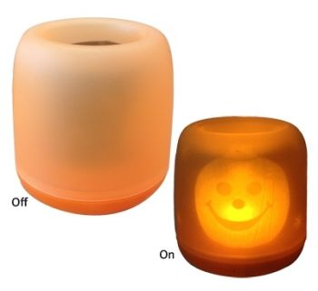 Blow Out Candle Light w/Halloween Design