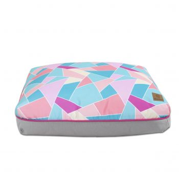Charlie's Rectangular Funk Pet Bed Pad- Multi Triangle Small