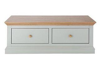 Cosmoliving Coffee Table 2 Drawer Storage Unit Pine Effect Top 110cm