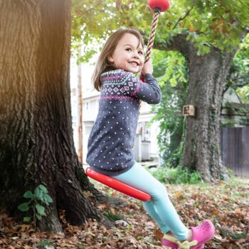 Tree Climbing Rope and Kids Outdoor Swing with Foot Hold Platforms, Disc Tree Swing Seat and Hanging
