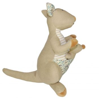 Plush Toy Kangaroo & Baby Joey - Brown