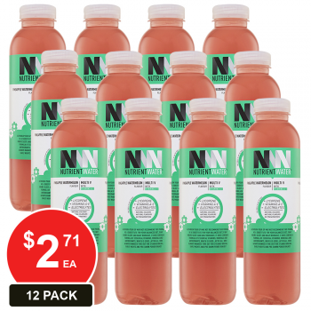 12 Pack, Nutrient Water 575ml Pineapple Watermelon (multi-v)