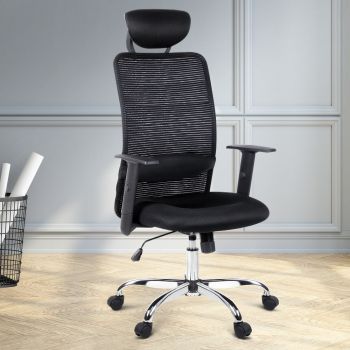 Artiss Office Chair Gaming Chair Eames Replica Mesh Computer Chairs Black