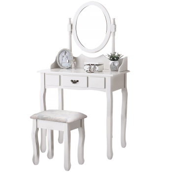 Levede Mirror Dressing Table Jewellery Makeup Organizer Set
