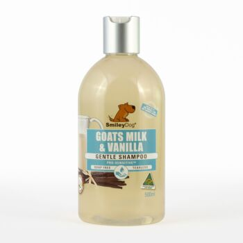 Smiley Dog Natural Australian Goats Milk with Vanilla Shampoo 500ml