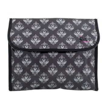Damask Print Multi-Purpose Flip Cosmetic Bag