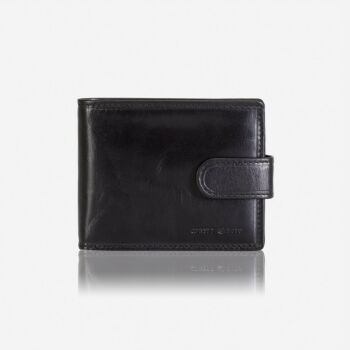 Billfold Wallet With Coin And Tab Closure Black