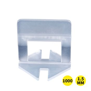1000x 1.5MM Tile Leveling System Clips Space Saving Tiling Tool