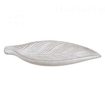 FLORA CONCRETE LEAF DISPLAY TRAY 31 X 13 X 4CM