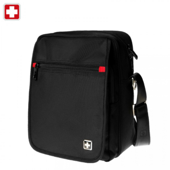 Swiss waterproof  Bag Travel Message Bag Daily iPad shoulder Bag SW8134A Black