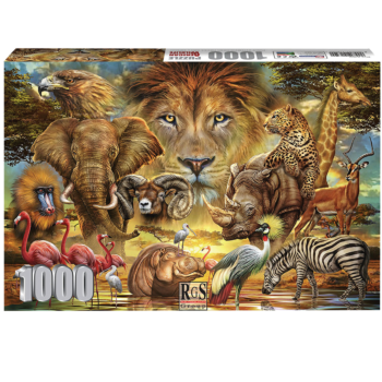 African Wildlife 1000 Piece Jigsaw Puzzle   The King Of The Jungle Is Looking Over His Subjects.