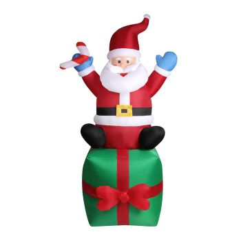Inflatable Christmas Santa Snowman with LED Light Xmas Decoration Outdoor