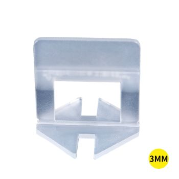 400x 3MM Tile Leveling System Clips Space Saving Tiling Tool