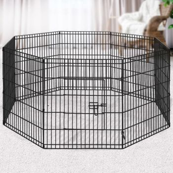 """i.Pet 2X 30"""" 8 Panel Pet Dog Playpen Puppy Exercise Cage Fence Play Pen"""