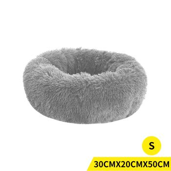 PaWz Soft Winter Cushion Pet Bed for Cats and Dogs S in Grey