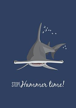 Greeting Card- Hammerhead Shark