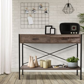 Wooden Hallway Console Table Entry Side Table Display Desk Industrial