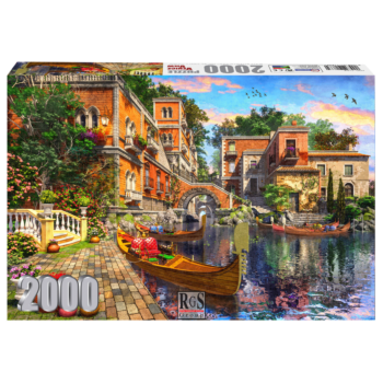 The Venice View 2000 Piece Jigsaw Puzzle   Buildings Lining The Waterway With Gondolas Waiting To Show You The Romantic Side Of Venice!